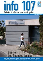 INFO 107-48 juillet 2010 mardi 13 juillet - Carbonne