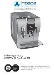 Bedienungsanleitung IMPRESSA Z9 One Touch TFT - Jura