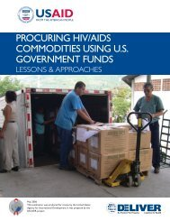 Procuring HIV/AIDS Commodities Using U.S. Government Funds ...