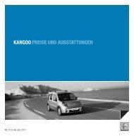KANGOO PREISE UND AUSSTATTUNGEN - Renault.ch