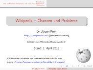 Wikipedia – Chancen und Probleme - iMedia