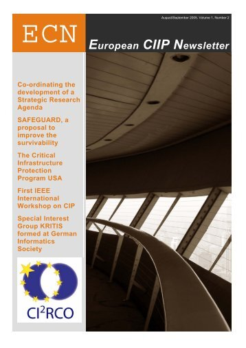 European CIIP Newsletter, Volume 1, Number 2 - irriis