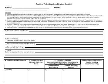 GPAT Consideration Checklist