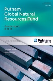 Global Natural Resources Fund Annual Report - Putnam Investments