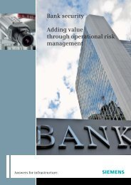 Bank security Adding value through operational risk management