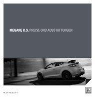 MEGANE R.S. PREISE UND AUSSTATTUNGEN - Renault.ch