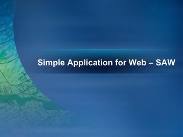 Simple Application for Web – SAW - Evenimente
