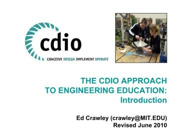 Designing – Implementing - CDIO
