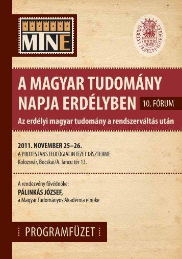 esemény programja - Magyar Tudományos Akadémia