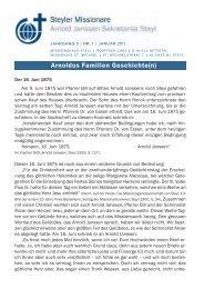 Rundbrief Nr. 01/2011 - Steyler Freundes- und Partnerkreise