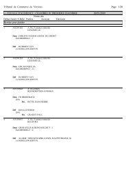 Tribunal de Commerce de Verviers Page 1/28 --- FEUILLE D ...