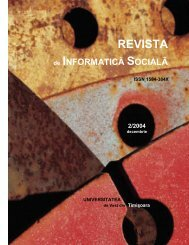 universitatea - Journal of Social Informatics / Revista de Informatica ...
