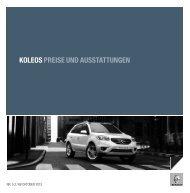 KOLEOS PREISE UND AUSSTATTUNGEN - Renault