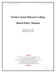 North Central Missouri College Board Policy Manual