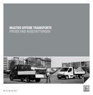 master offene transporte preise und ausstattungen - Renault.ch