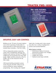 FMS-1650 - Isolation Room Controller - LON - Ingenuity IEQ