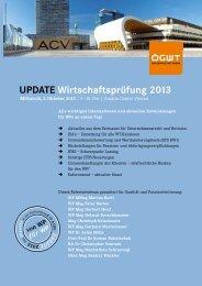 Update Wirtschaftsprüfung 2013