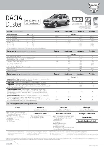 dacia duster flyer 2012 ohne bilder steppenwolf 4x4. Black Bedroom Furniture Sets. Home Design Ideas