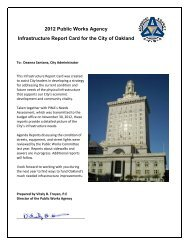 2012 Report Card for Oakland's Infrastructure - City of Oakland
