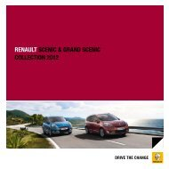 RENAULT SCENIC & GRAND SCENIC COLLECTION 2012