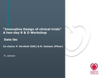 Innovative design of trials