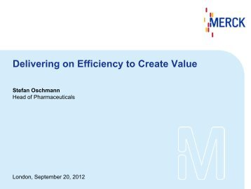 delivering on efficiency to create value merck kgaa - Vertragserfullungsburgschaft Muster
