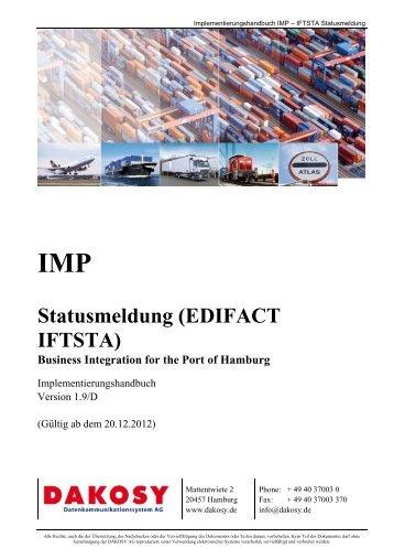 Beschreibung zur EDIFACT IFTSTA - DAKOSY ...