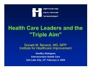 Health Care Leaders and the