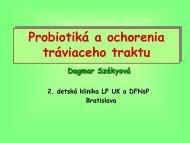 D. Székyová - Probiotiká a ochorenia tráviaceho traktu
