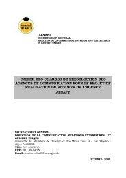 Cahier des charges relatif à cet avis - Ministère de l'énergie et des ...