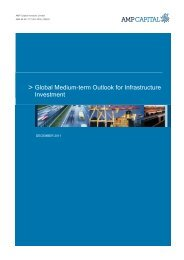 Global Medium-term Outlook for Infrastructure ... - AMP Capital