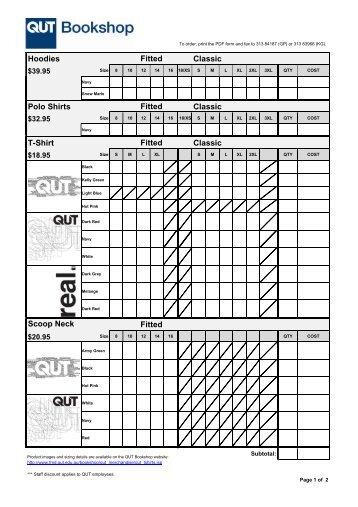 t shirt order form pdf