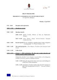 DRAFT PROGRAMME PRESIDENCY CONFERENCE ON YOUTH ...