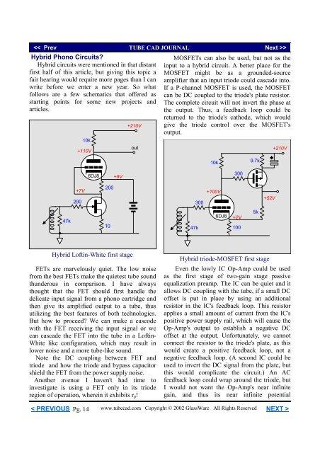 Hybrid Phono Circuits Hyb