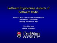 Software Engineering Aspects of Software Radio