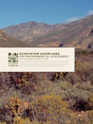 Ecosystem Guidelines for Environmental Assessment