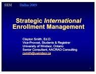 Strategic International Enrollment Management - AACRAO