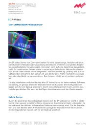 Der CONVISION Videoserver IP-Video - ESAG