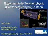 Experimentelle Teilchenphysik - ZEUS - Universität Bonn