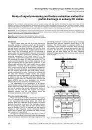 Study of signal processing and feature extraction method for partial ...