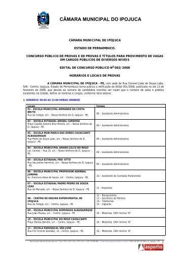 Edital 002 - Locais de Prova - asperhs