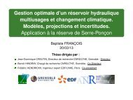 Gestion optimale d'un réservoir hydraulique multiusages et ... - LTHE