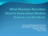 What's new in Graduate Medical Education - Michigan Recruitment ...