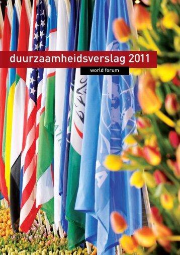 duurzaamheidsverslag 2011 - World Forum