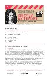 PDF: Ausschreibung Kurzfilm-Wettbewerb WALDflimmern