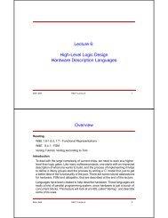 Lecture 6: High-Level Logic Design Hardware Description ...