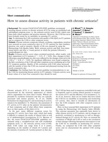 How to assess disease activity in patients with ... - ResearchGate