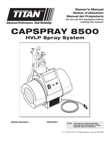 CAPSPrAy 8500 - Paint Sprayers, HVLP Sprayers, Powered Rollers