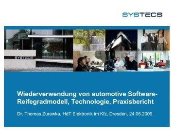S f Wiederverwendung von automotive Software- Reifegradmodell ...