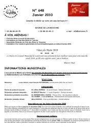 N° 648 Janvier 2010 - Commune de Lanrivoaré